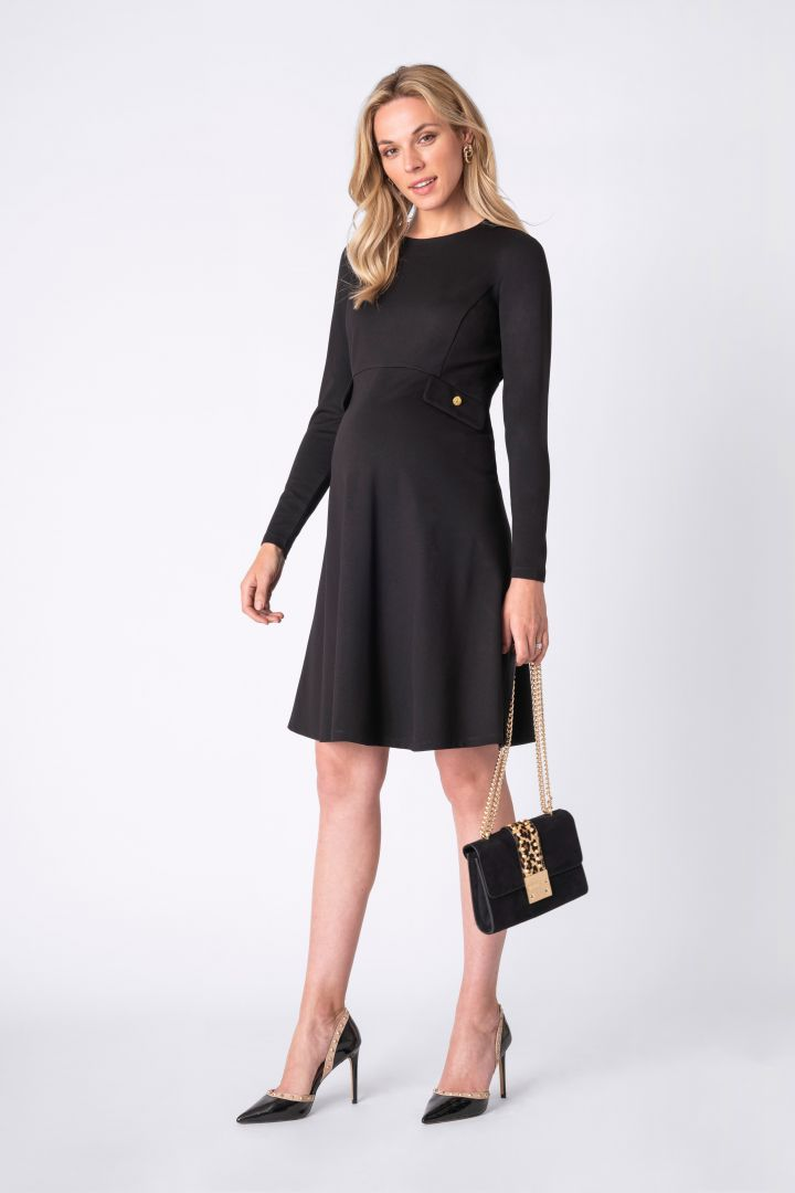 Fit and flare maternity and nursing dress