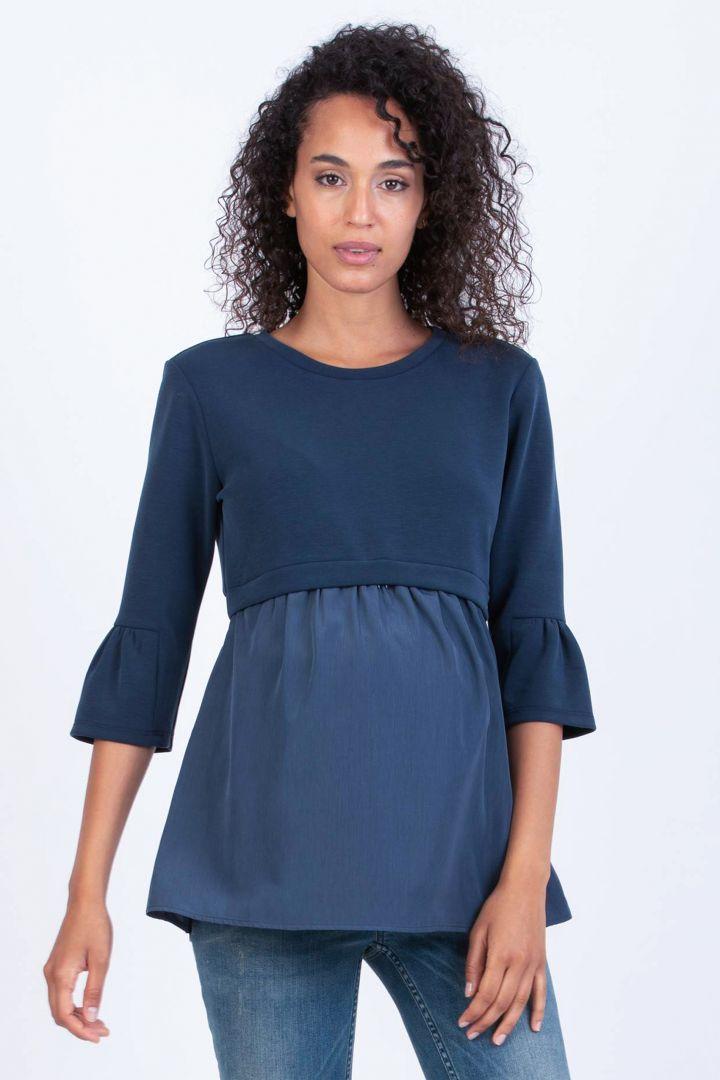 Maternity and Nursing Tunic denim