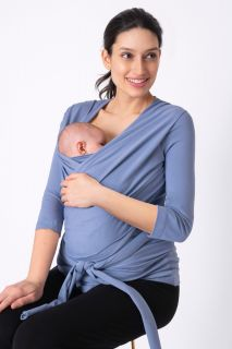 Skin to Skin Baby Bonding Shirt blau