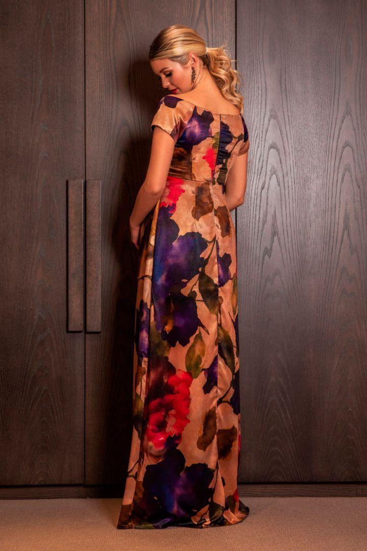 Exotic Bloom maternity dress
