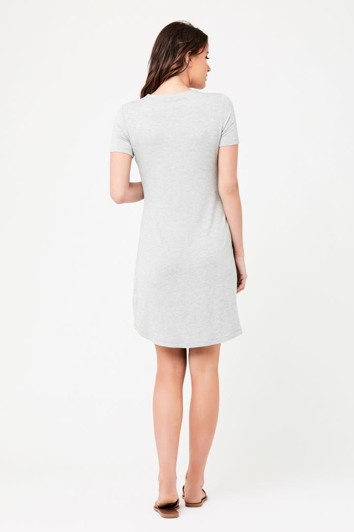 Short Maternity Dress with Twisted Detail