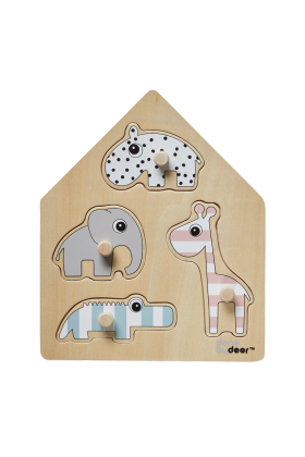 Holz Steckpuzzle Zootiere