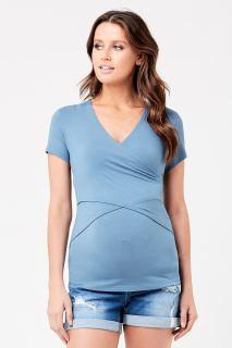 Embrace Umstands- und Still Shirt kurzarm schieferblau