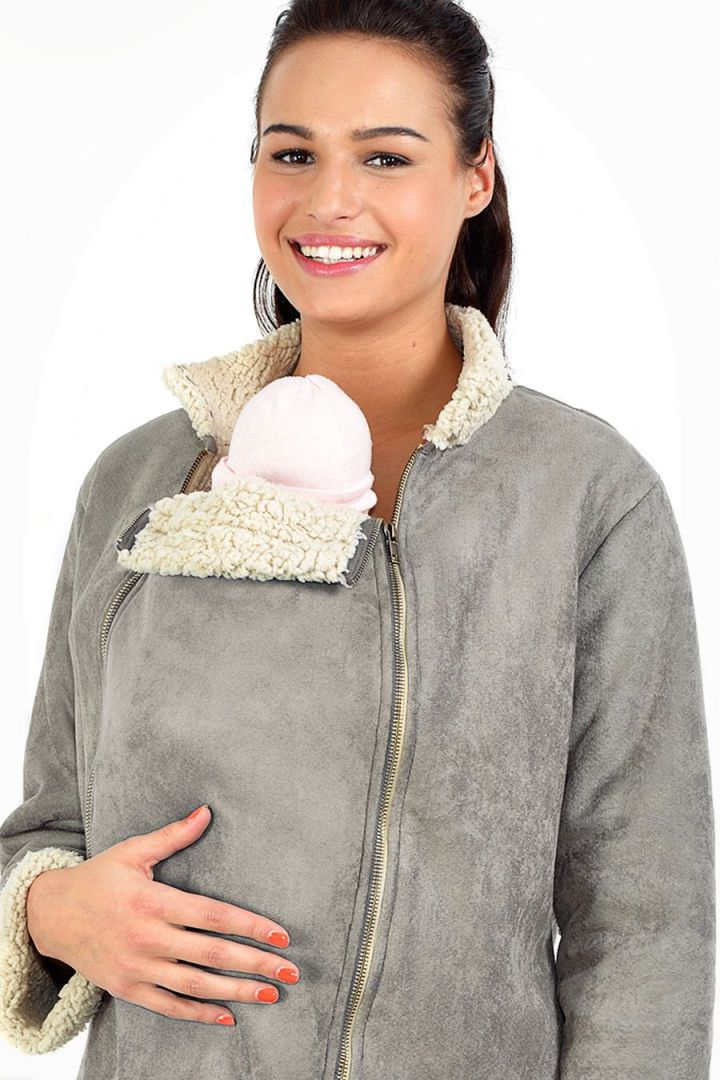 Maternity Jacket with Baby Carrier