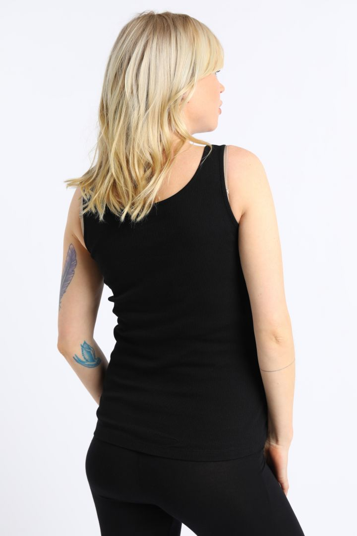 Organic Maternity and Nursing Top with Button Front black black