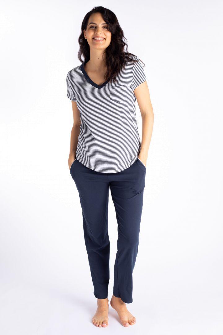 Striped Maternity Shirt in Organic Cotton