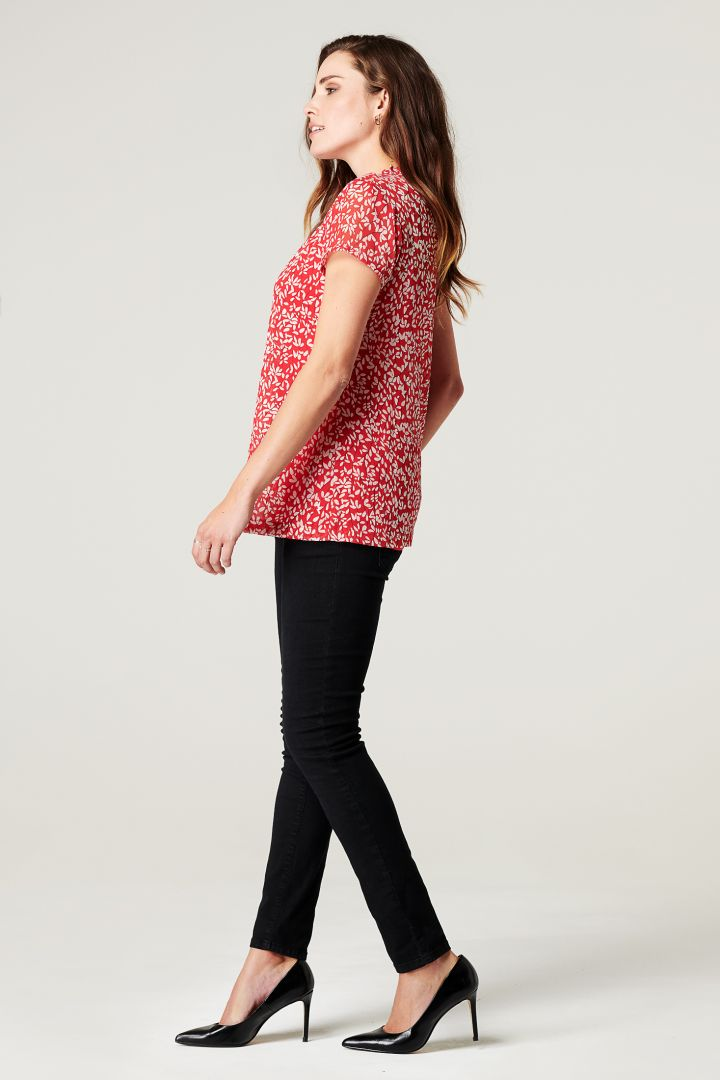 Maternity and Nursing Blouse from Recycled Material