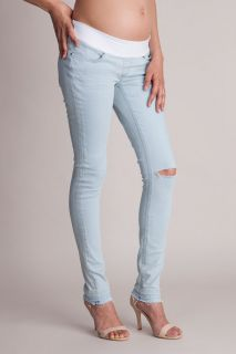 Ripped Umstandsjeans light wash