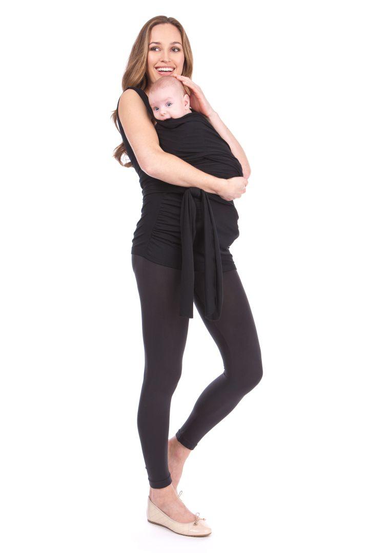 Skin to Skin Baby Bonding Top ohne Ärmel schwarz