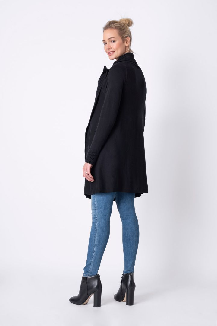 Maternity cardigan with black cashmere