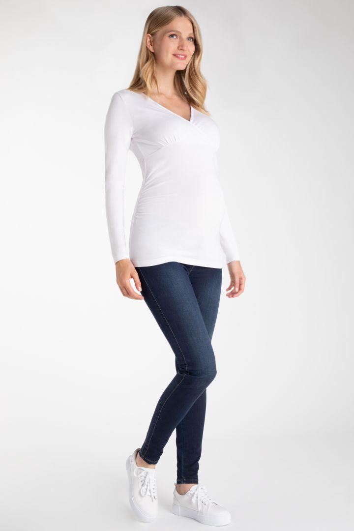 Cache-Coeur Umstands- und Stillshirt weiß
