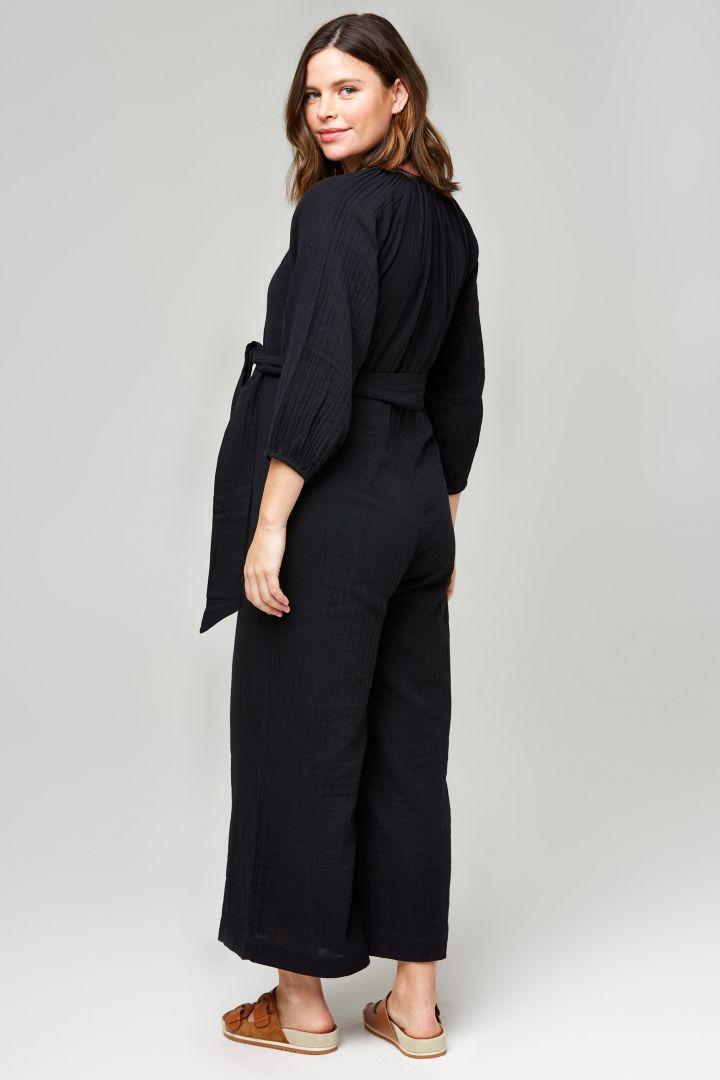 Organic Umstands- und Still-Jumpsuit mit Gürtel