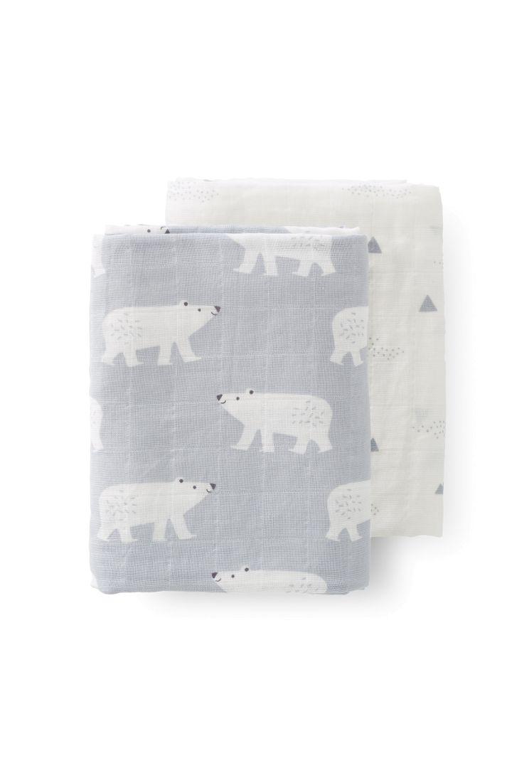 Puck - und Spucktücher 2er Set mit Eisbären Print