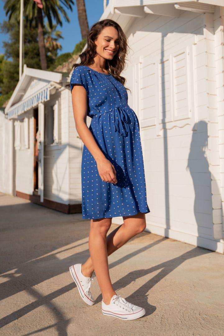 Polka-Dot Maternity and Nursing Dress