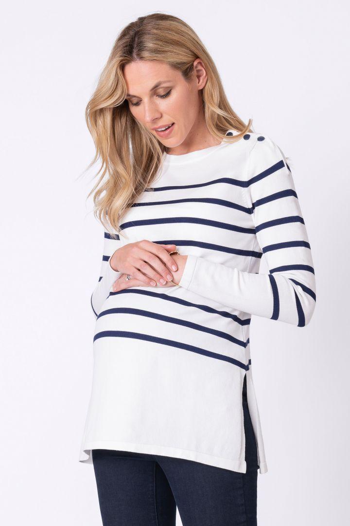 Nautical Maternity and Nursing Jumper