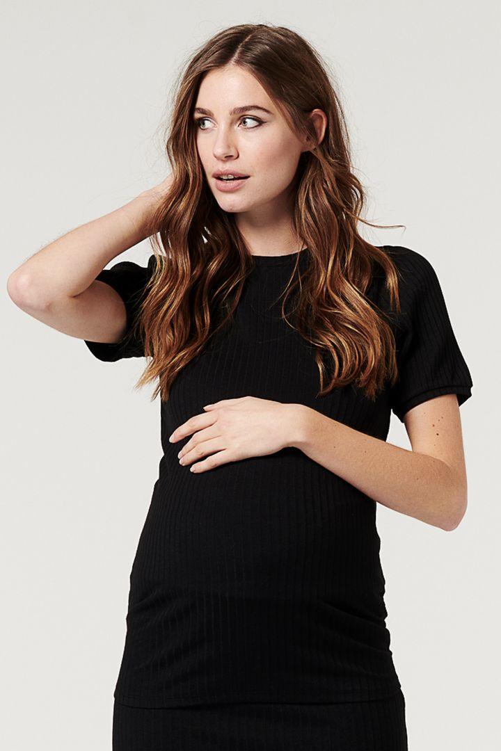 Rib Knit Maternity Shirt
