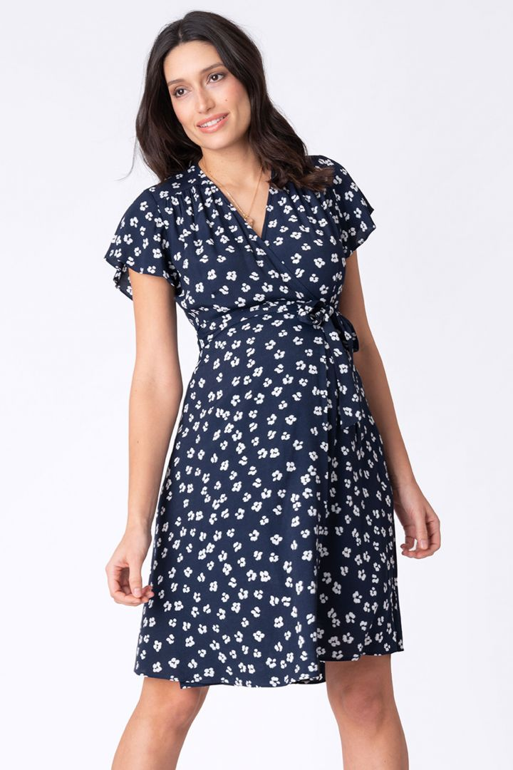 Maternity and Nursing Dress with Floral Print