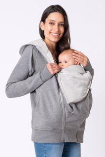Umstands-Hoodie mit Babyeinsatz
