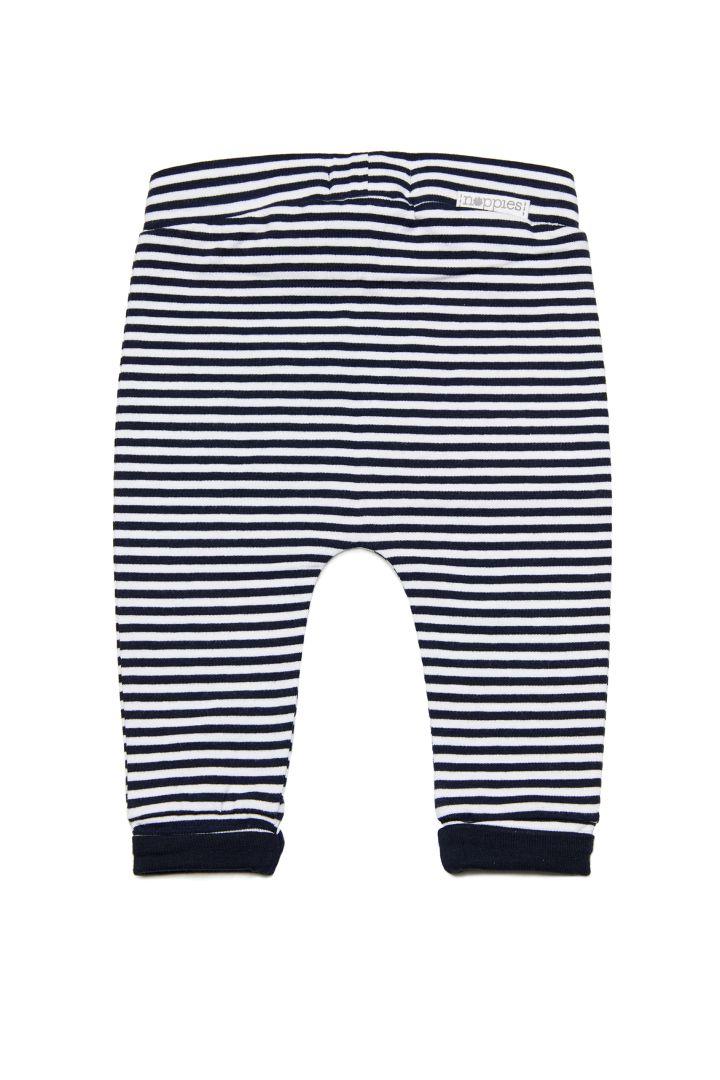 Organic Babyhose mit Streifen navy/weiß