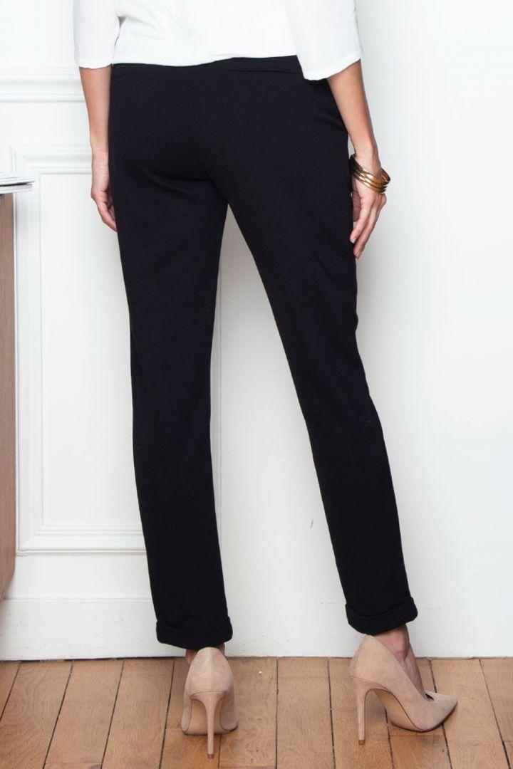 Straight Leg Overbump Maternity Trousers