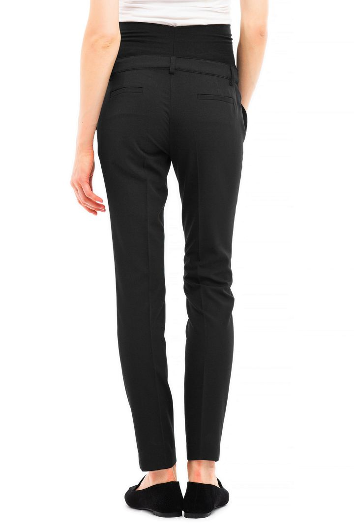Business Maternity Trousers with Classic Creases black