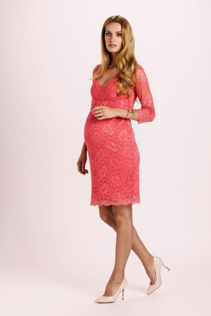 Nathalie Lace Dress coral
