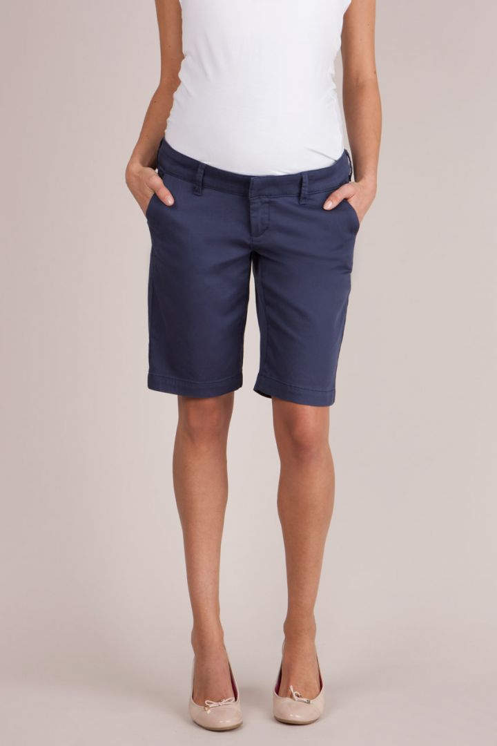 Chino Maternity Bermuda Shorts navy