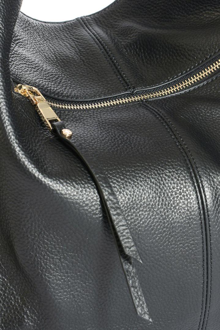 Leather changing bag Lennox, black