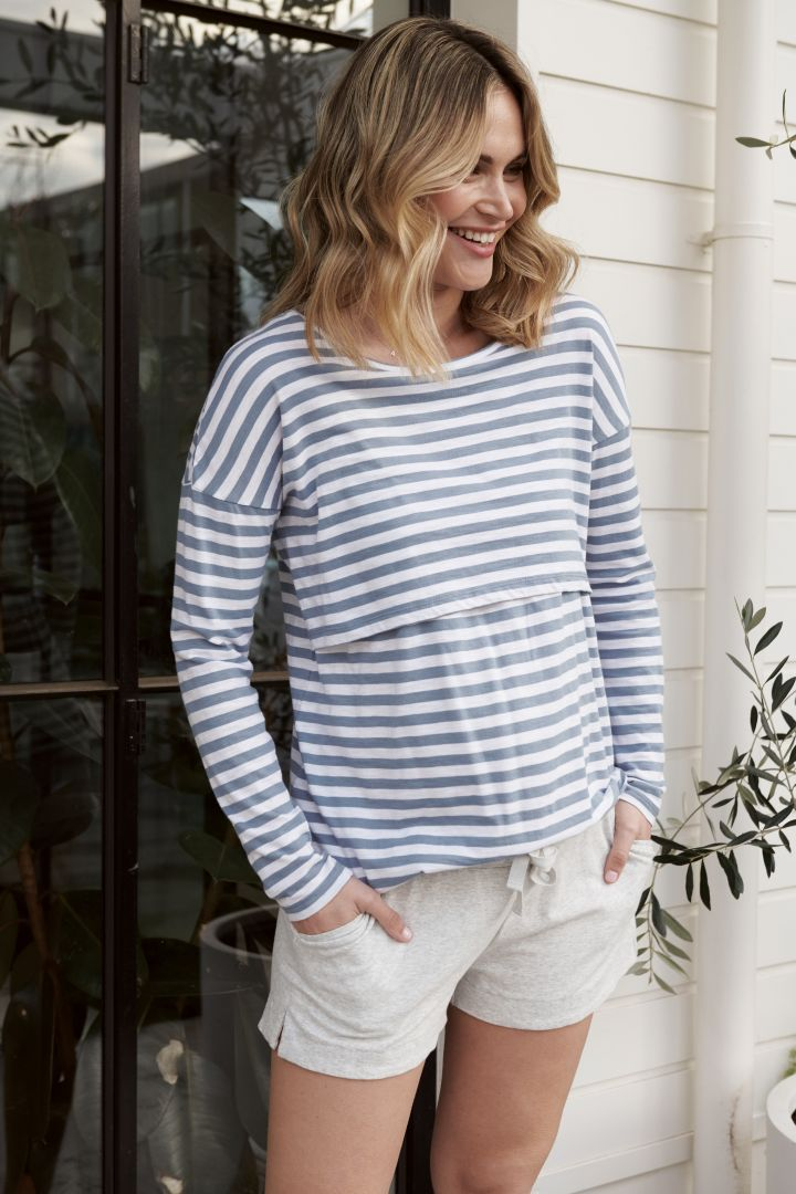Organic Maternity Shorts with Drawstring