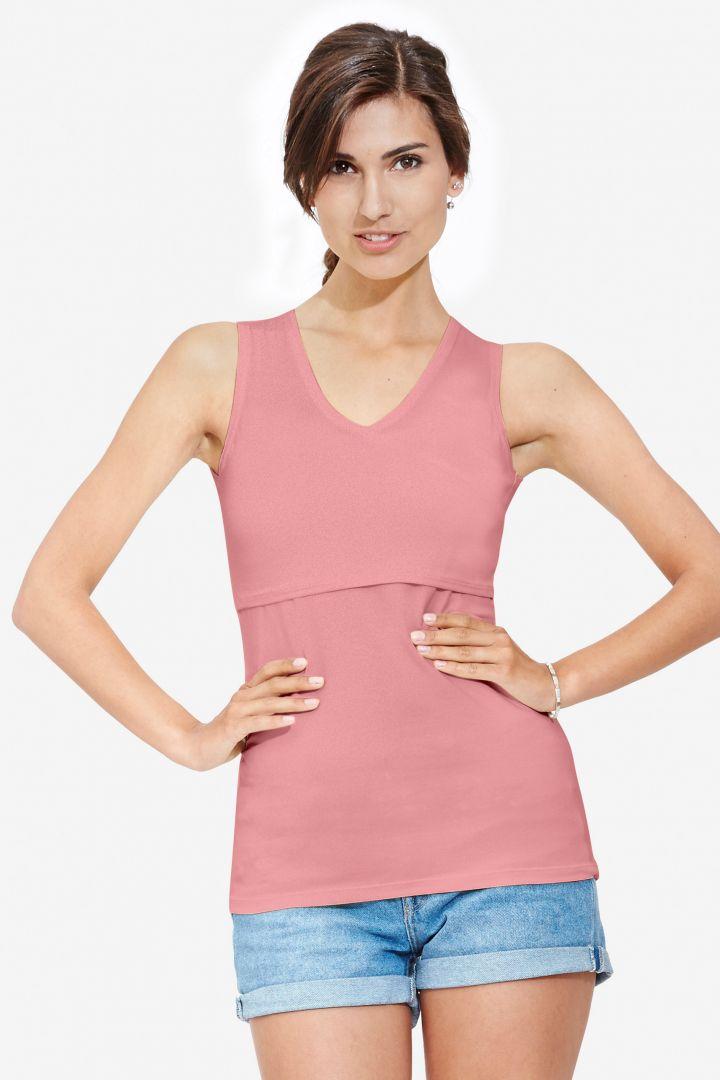 Umstands- und Stilltop mit V-Ausschnitt rosa