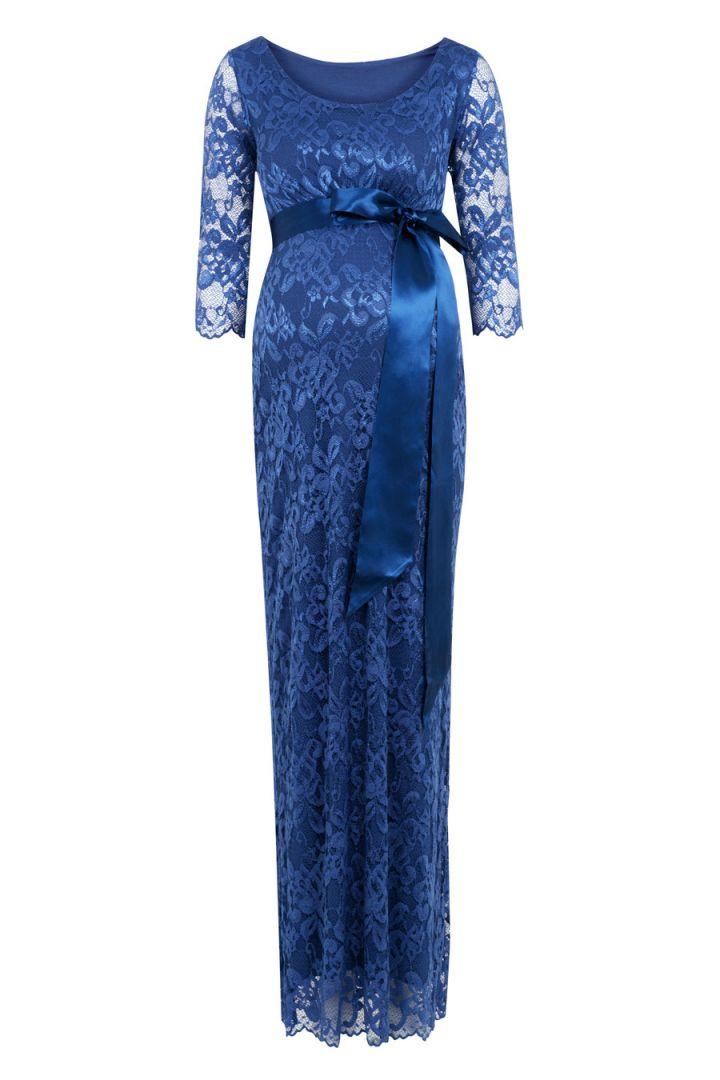 Umstandsspitzenkleid royal blau lang