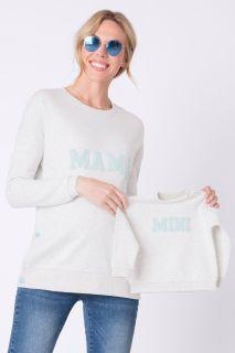 Sweatshirt mit Stillöffnung und Baby Sweater im Set