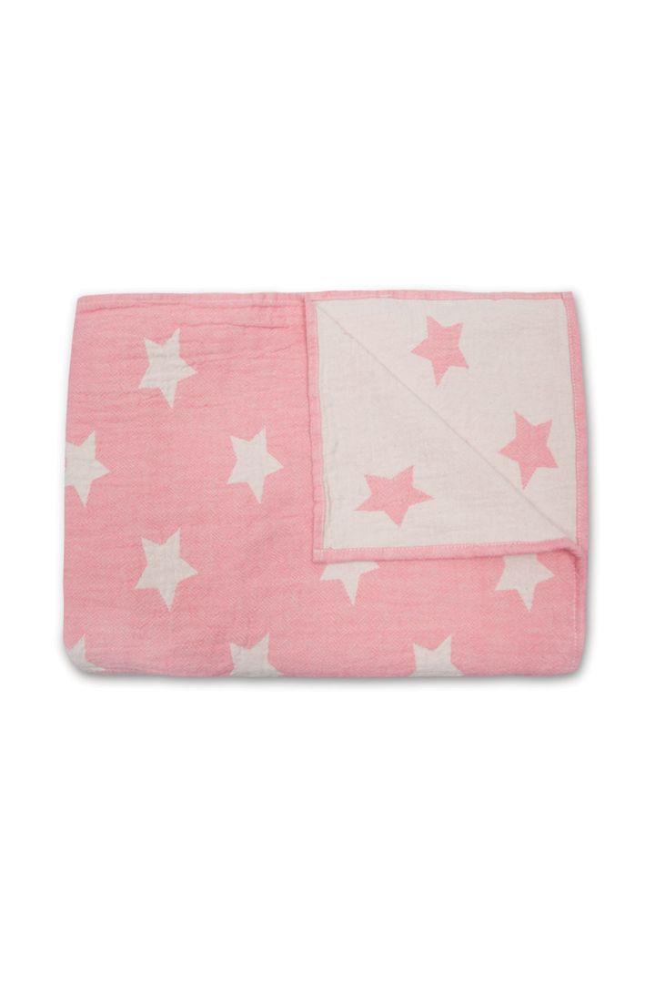 Baby Blanket Stars pink