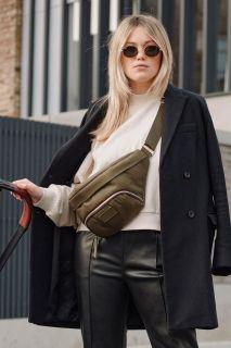 Gürtel Wickeltasche Eco aus recyceltem Nylon khaki