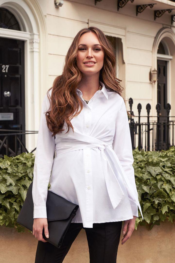 Maternity Wrap Blouse