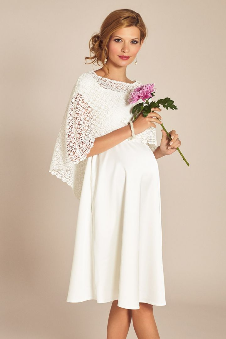 Boho Maternity Bridal Cape Made of Lace