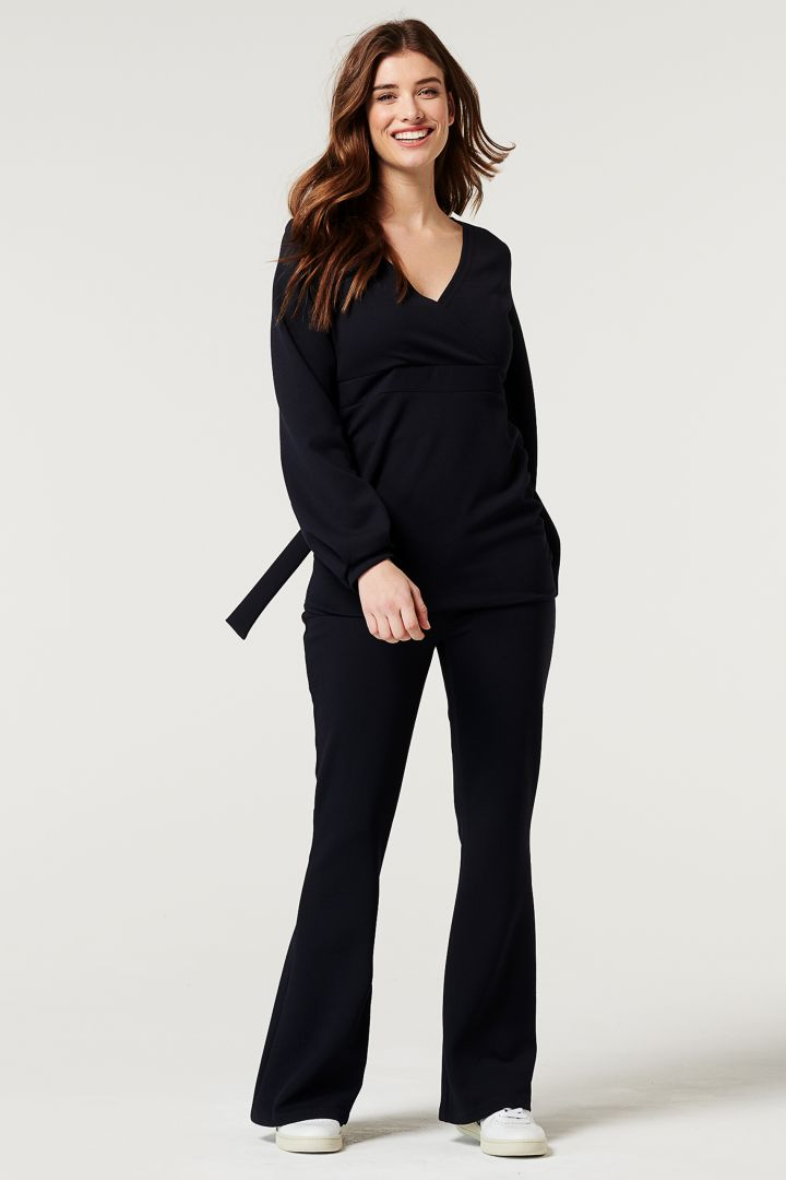 Eco Maternity and Nursing Shirt with Balloon Sleeves