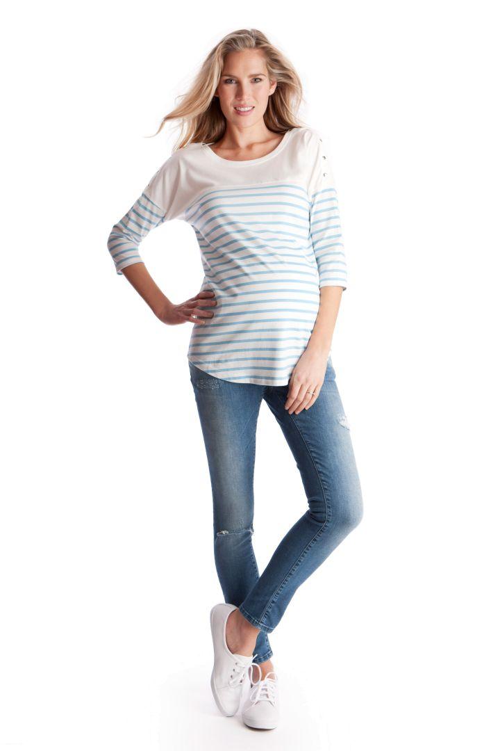 Breton Maternity and Nursing Shirt