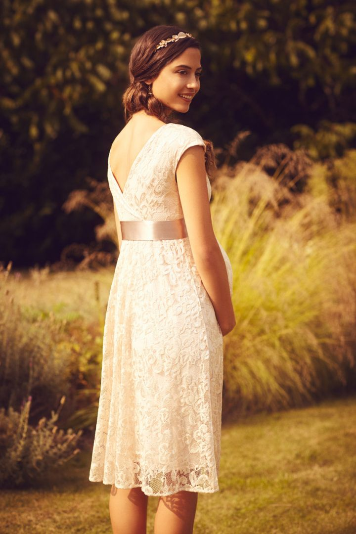 A-line maternity lace dress