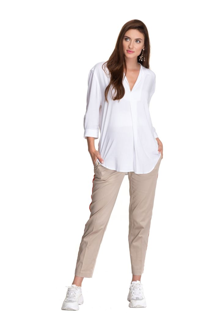 Maternity Chinos with Classic Creases