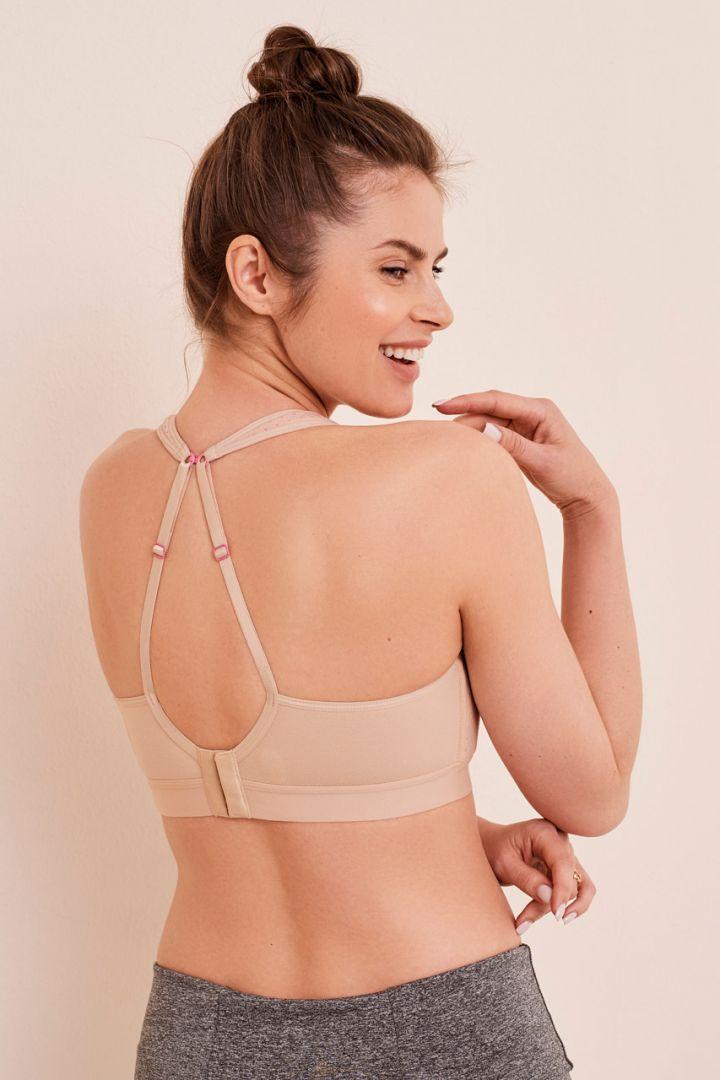 Sport mesh nursing bra, skin tone