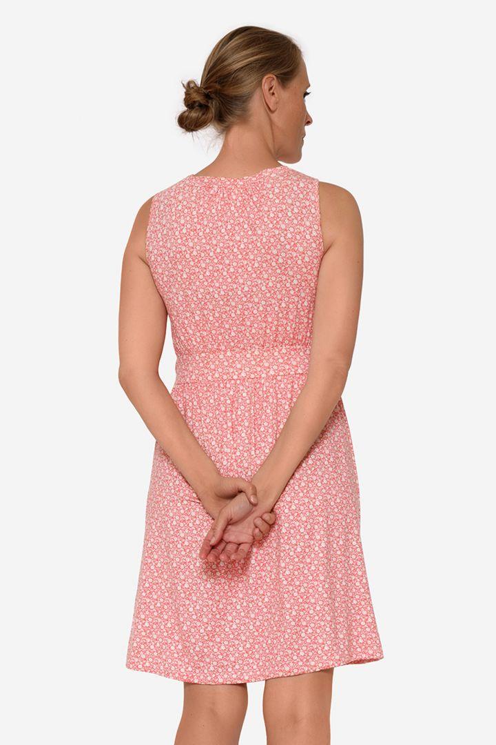 Organic Maternity and Nursing Dress with Flower Print rose