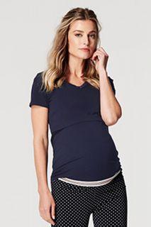Umstands- und Stillshirt aus Bio-Baumwolle navy