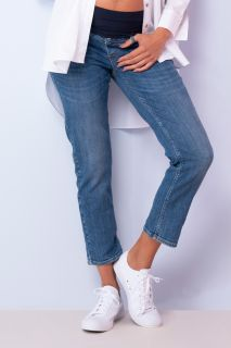 Cropped Umstandsjeans Straight Leg