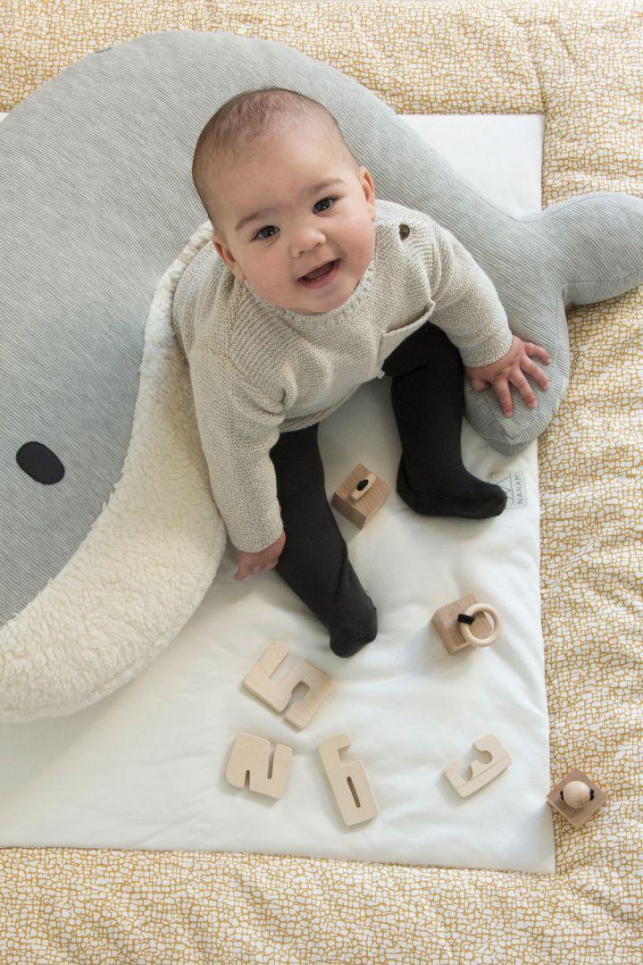Still- und Babykissen Wal
