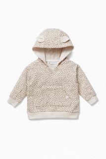 Baby Hoodie aus Bio-Baumwolle mit Animal-Print