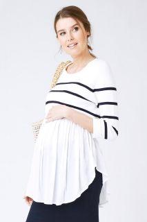 2-in-1 Umstands- und Stillpullover mit Bluse