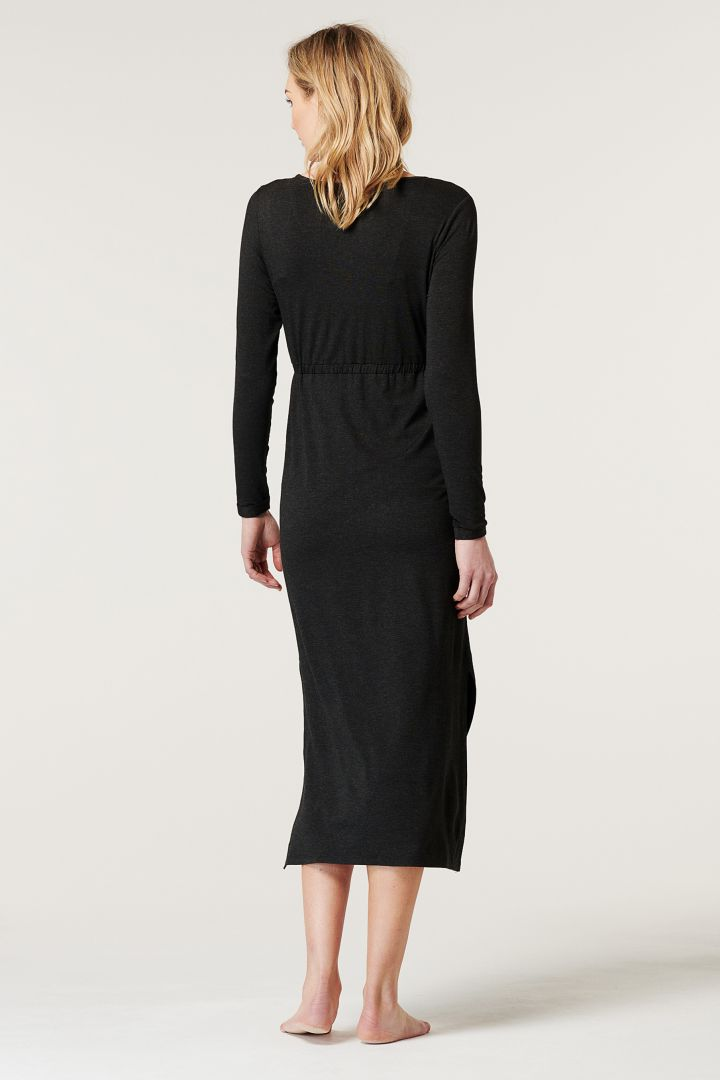 Ecovero Maternity Dress with Side Slits