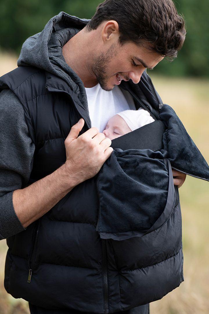 Papa 2-in-1 Eco Weste mit Babytrage-Einsatz
