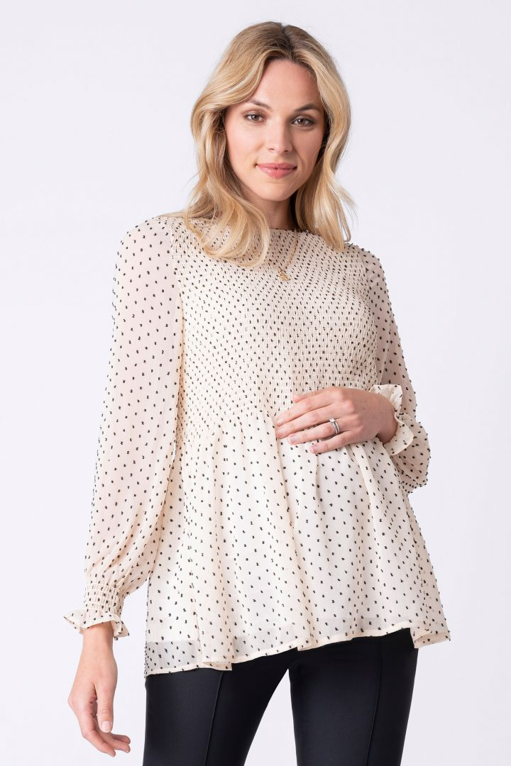 Maternity Shirred Top